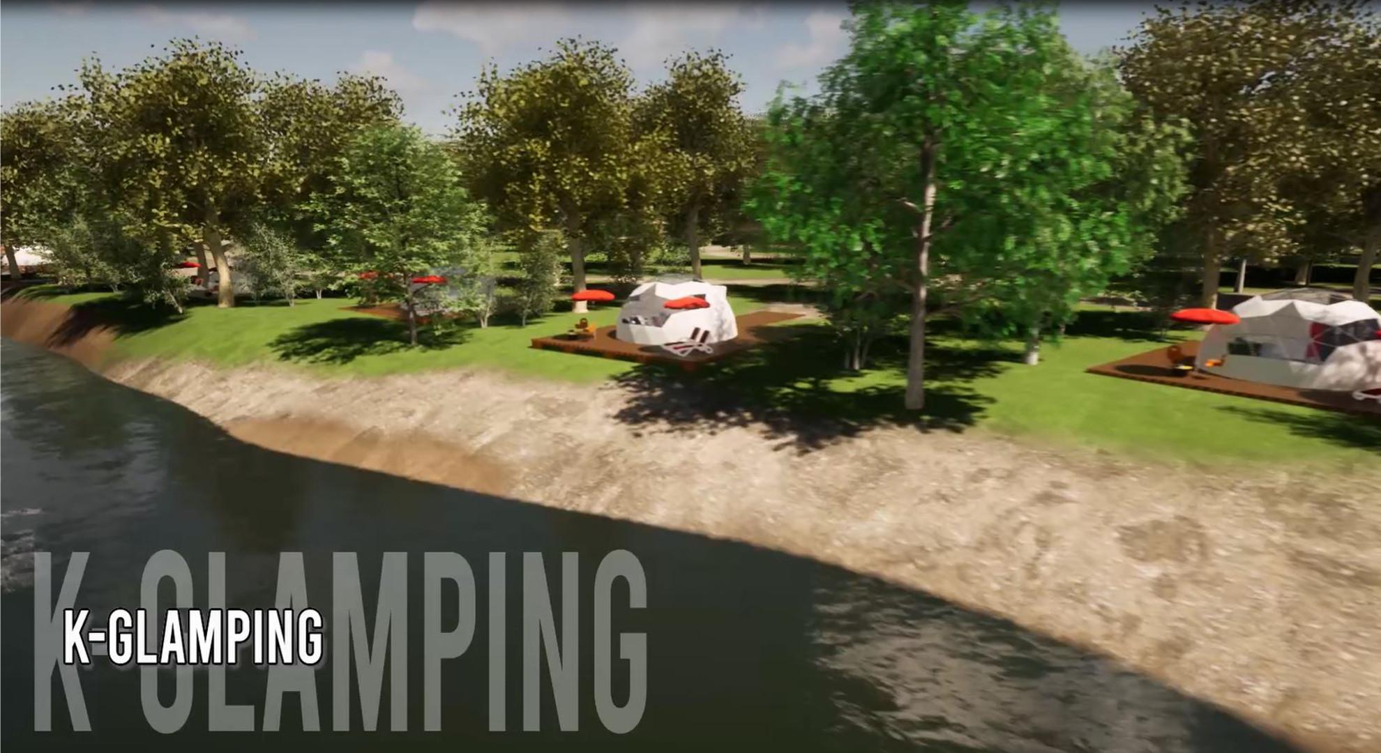 Cupola geodetica per il campeggio K-GLAMPING