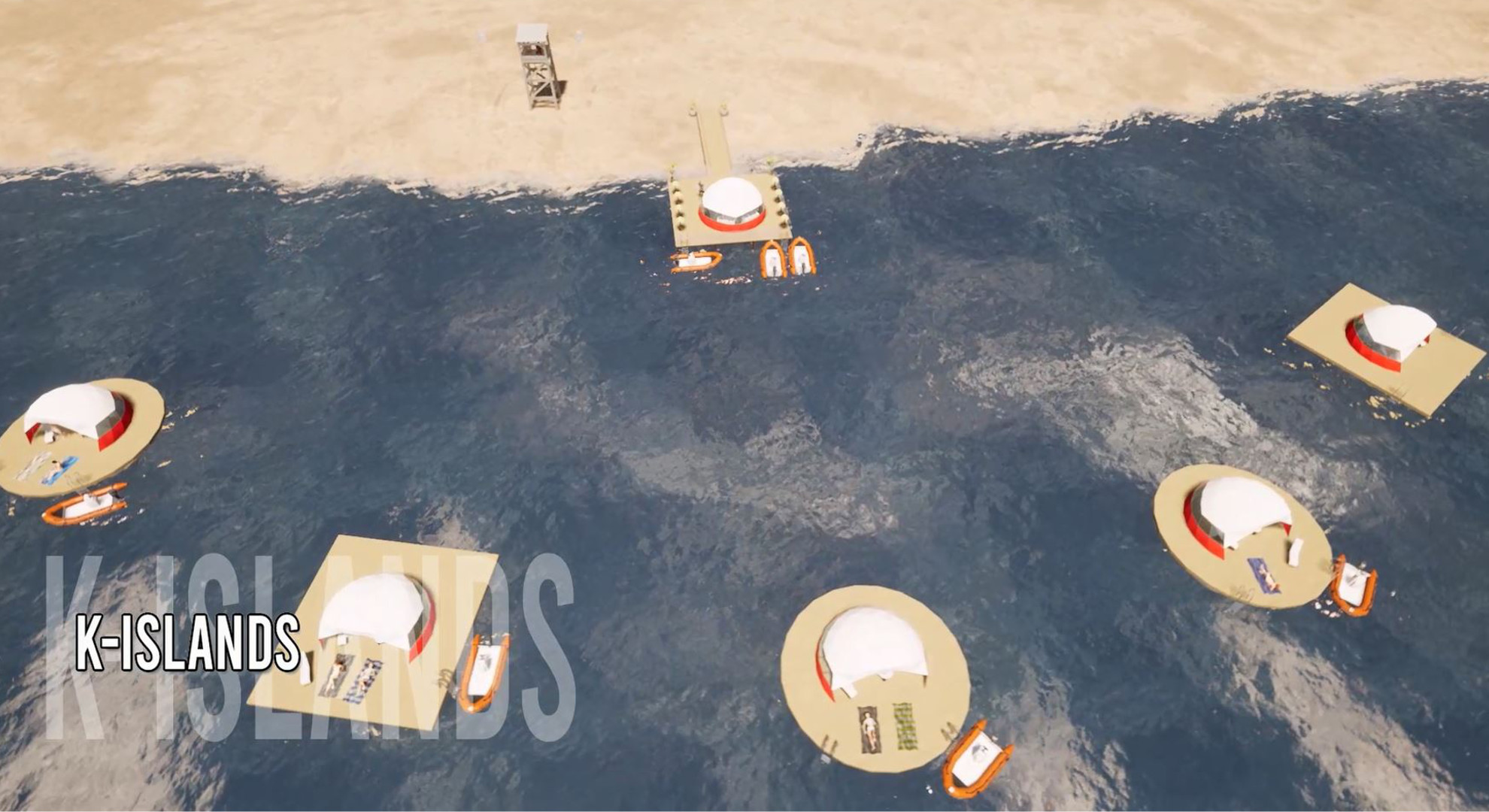 Isola galleggiante prefabbricata K-ISLAND